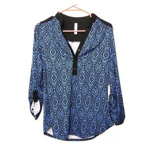 Like new Blue and black tunic